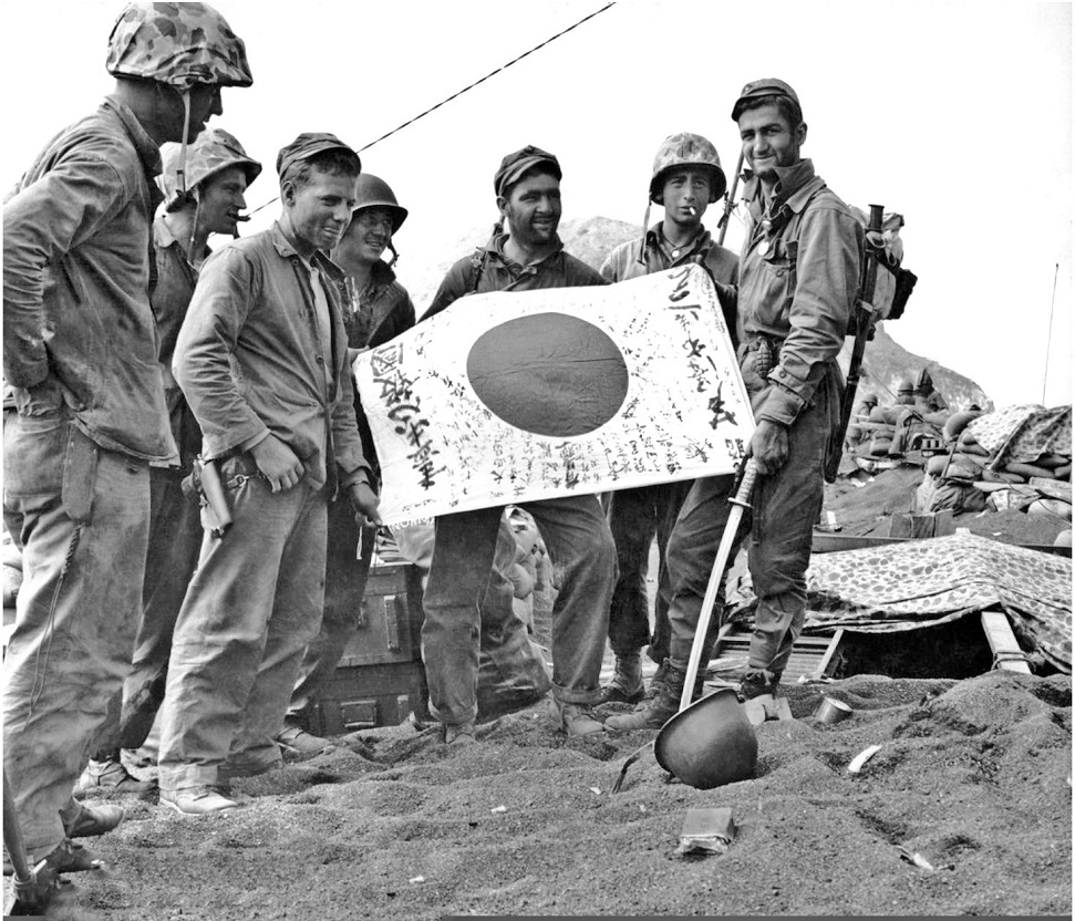 On the battlefields, foreign soldiers searched for souvenirs they could carry home with them. Rifles and swords were popular; however, the most common souvenir was the small Japanese flag inscribed with writing.